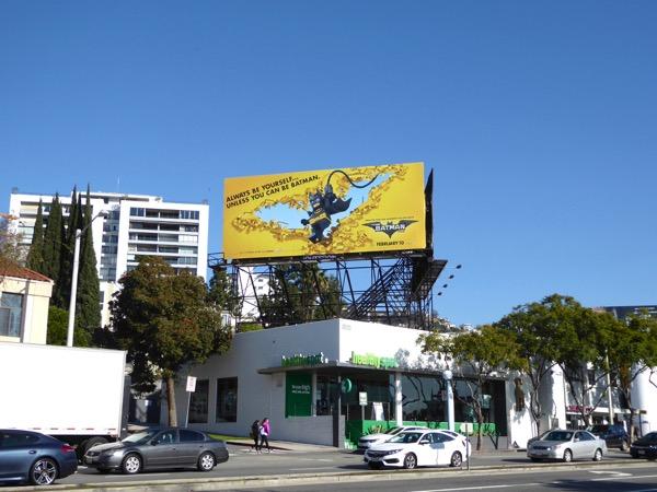 Lego Batman billboard