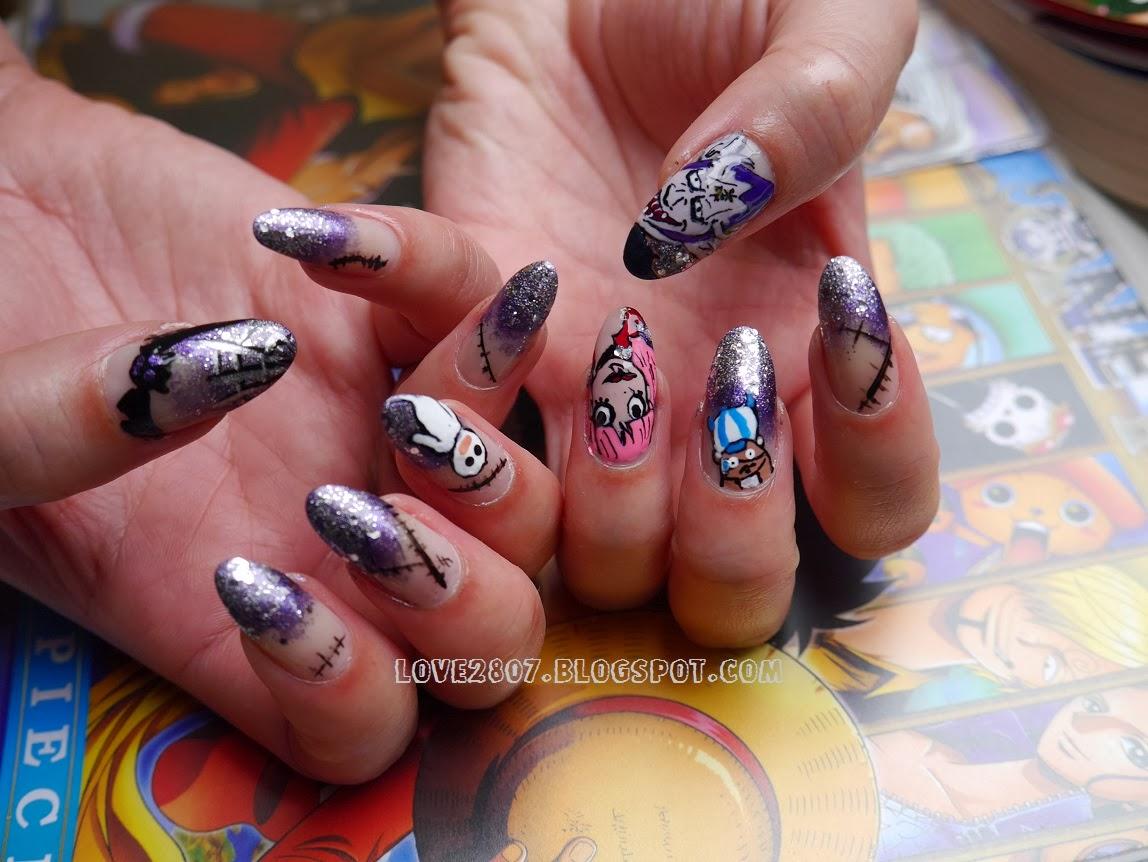 nailove2807: One Piece Halloween Nails: Thriller Bark