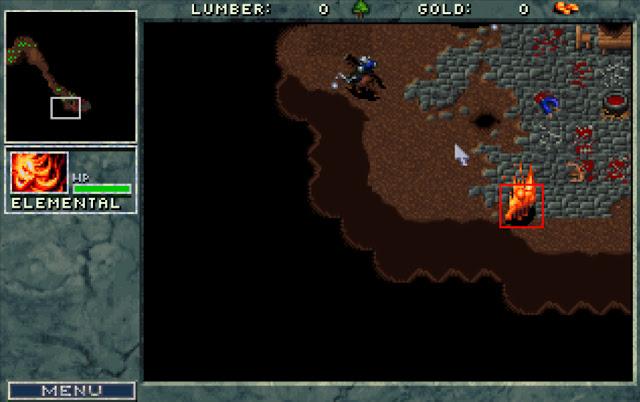 Warcraft 1 Fire Elemental Screenshot