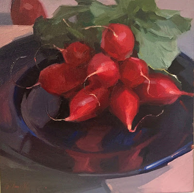 radish oil painting still life