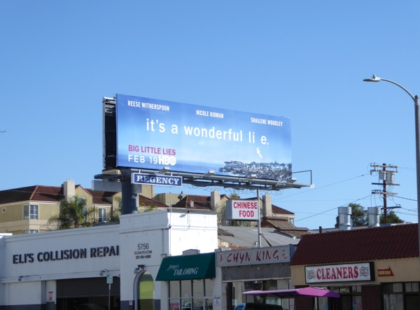 Big Little Lies series launch billboard