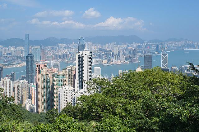 Panorama de Hong Kong depuis le sommet de Victoria Peak
