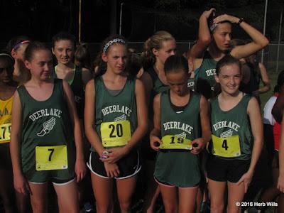 Deerlake girls' cross country team
