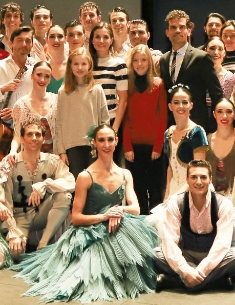 Queen Letizia, Princess Leonor and Infanta Sofia attended the 40th anniversary performance of The Spanish National Ballet