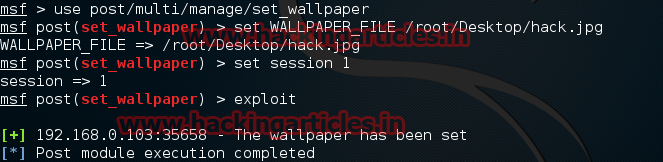 Hack Wallpaper Of Remote Android Phone Using Metasploit