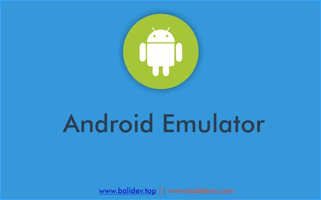 Emulator flat design by balidev.top