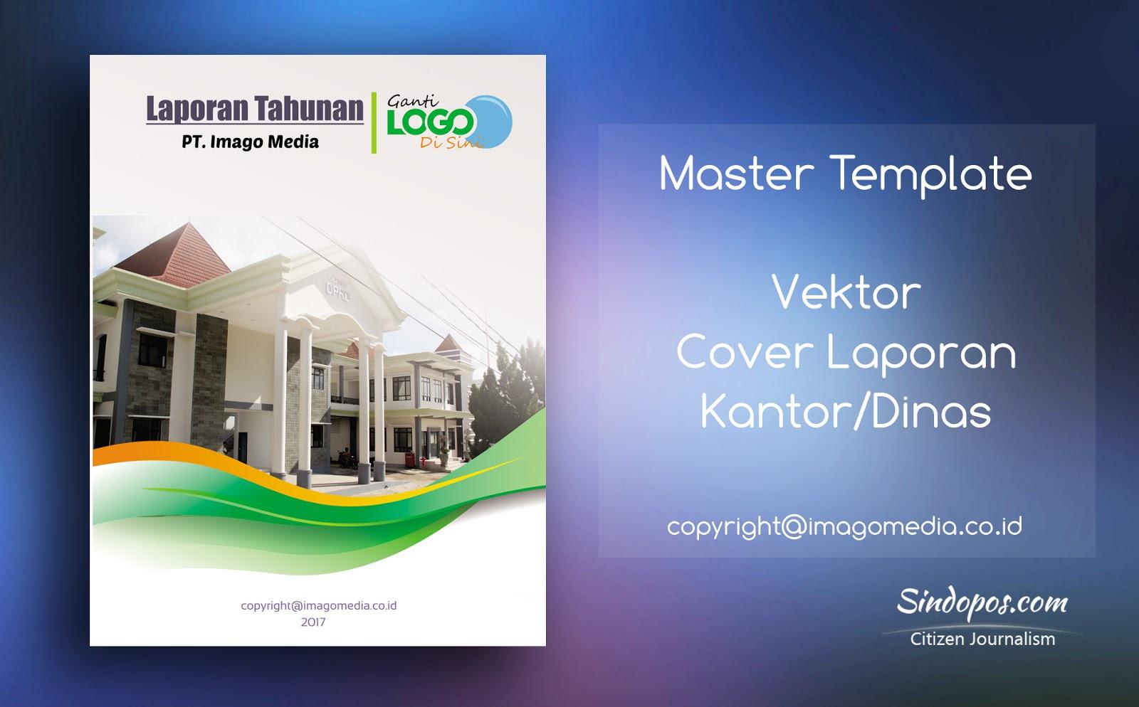 desain template cover laporan kantor