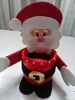 dulcero Papá Noel con botella plástica