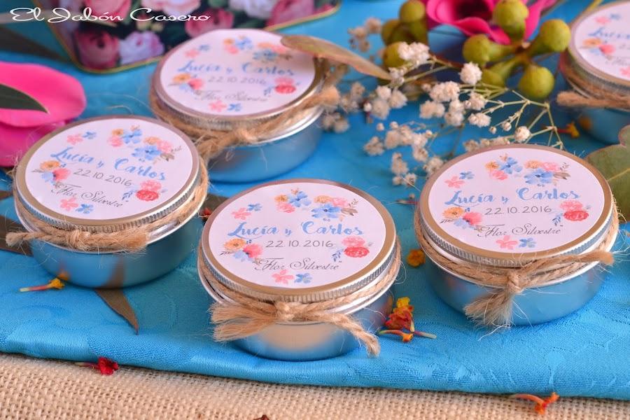 Detalles para bodas velas aromaticas personalizadas