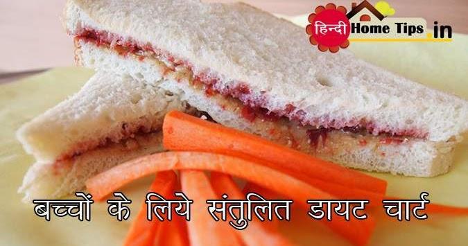 Balanced Diet Chart for Kids in Hindi - बच्चों के संतुलित डायट चार्ट | Hindi Home Tips - हिन्दी होम टिप्स