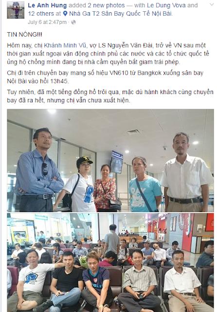 Khôi hài màn biểu tình đòi trả tự do cho bà Vũ Minh Khánh của rận chủ