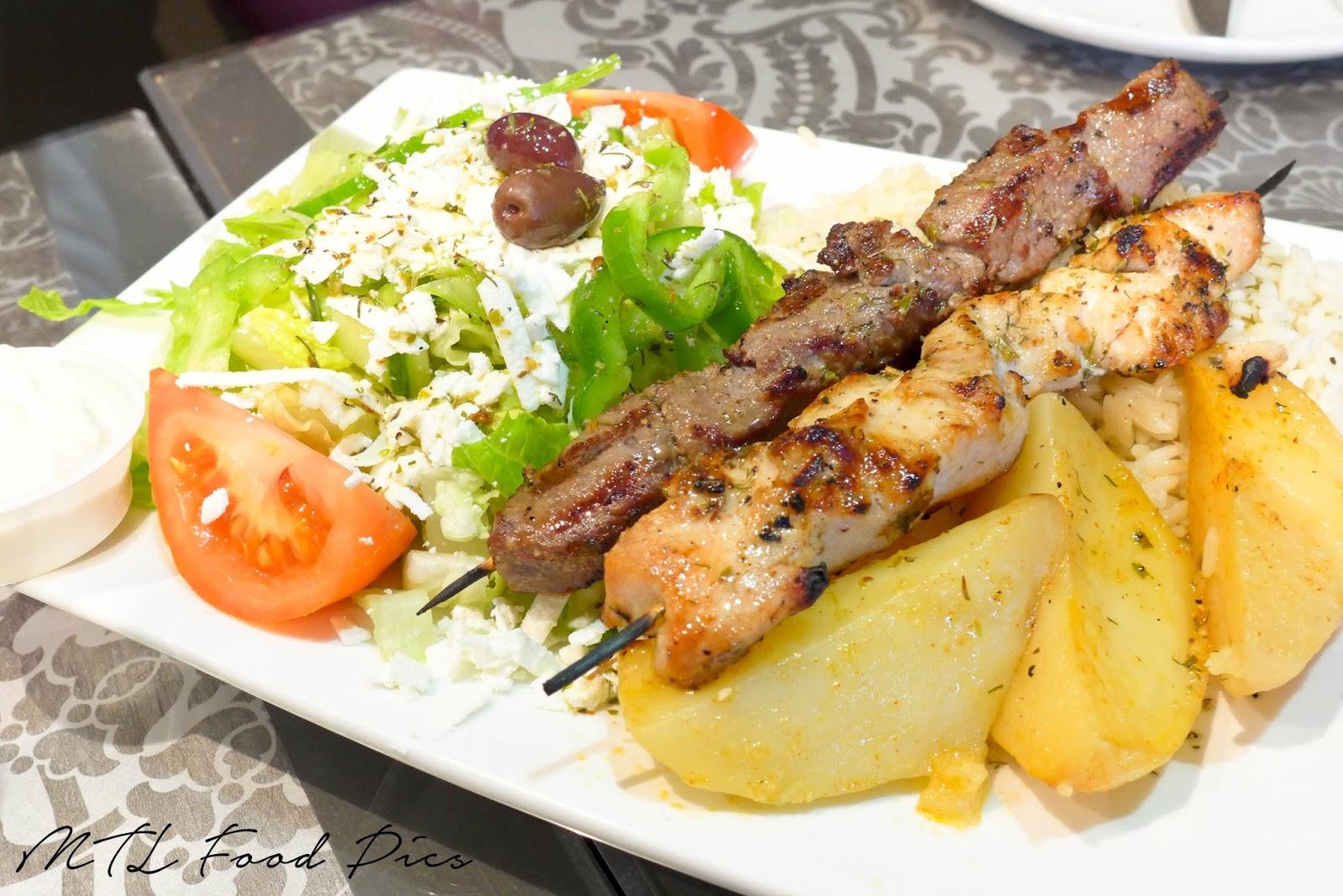 Greek Food Chicken Souvlaki