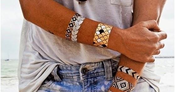 I Love It I Love It Tatuaże Metaliczne Najnowszy Trend
