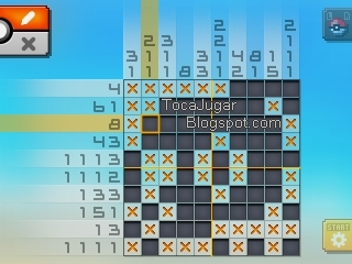 Toca jugar pok mon picross solutions area 02 for Pokemon picross mural 2