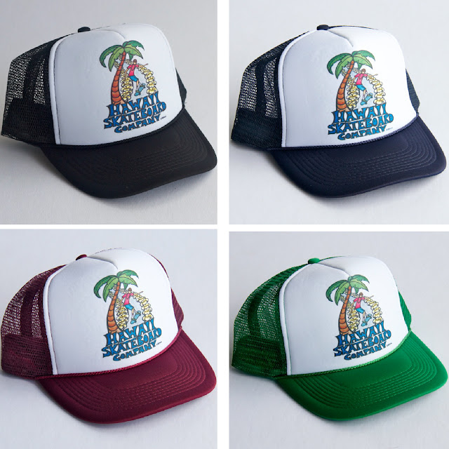 327d21b53b639 Heather Brown X Hawaii Skateboard Company collaboration Trucker Hat