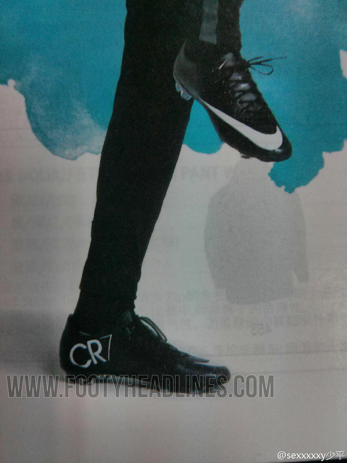 best cheap 1f39a 702a7 The new black Nike Mercurial Vapor X CR7 2014 Boot features a shimmering  effect on the mainly black upper and the outsole, which should highlight  the ...