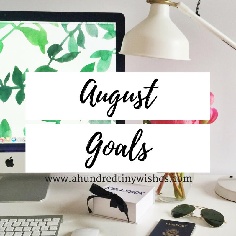 August blog goals