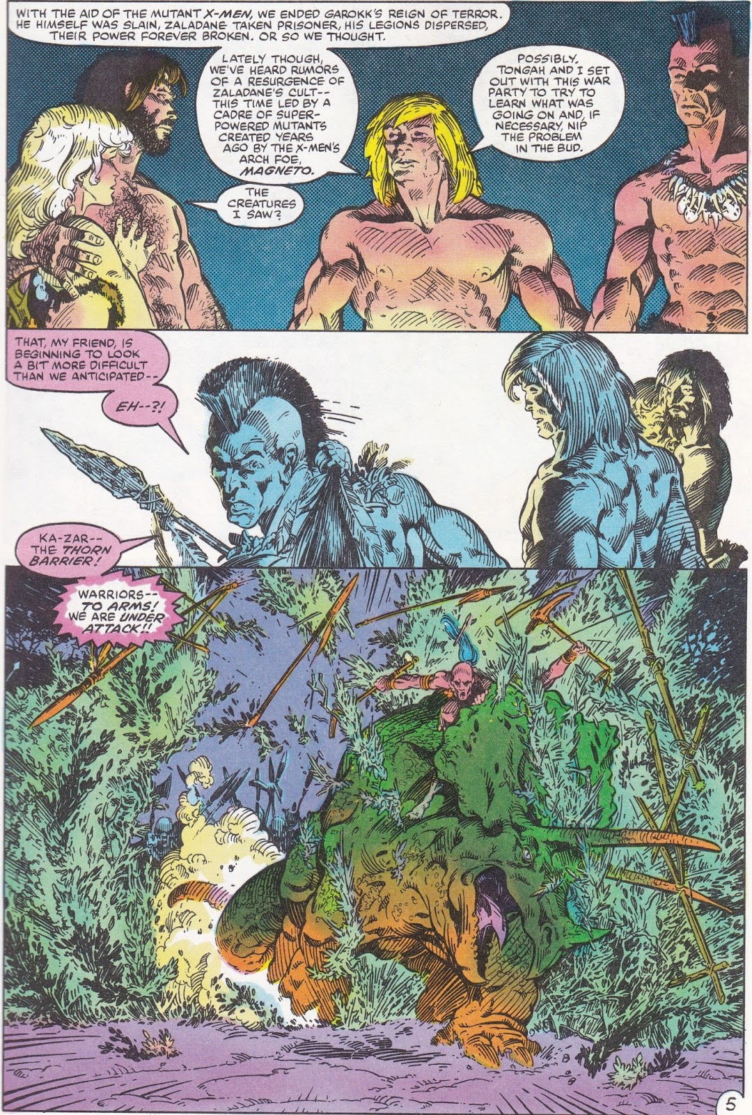 Bronze age babies a modern stone age fantasy marvel fanfare 1 2 the teaming of spider man and the angel provides some solid visuals although id argue that dropping spidey into the savage land strips the character of fandeluxe Choice Image