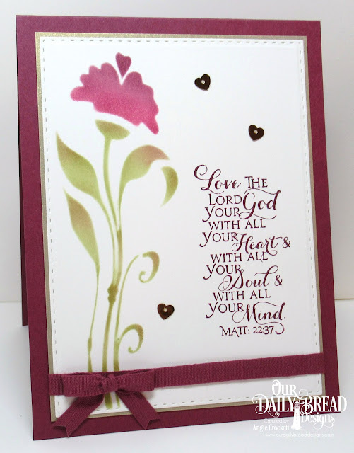 ODBD Scripture Collection 9, ODBD Custom Double Stitched Rectangles Dies, Card Designer Angie Crockett