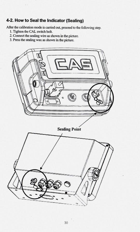 TIMBANGAN ELEKTRONIK / ELECTRONIC SCALE: BUKU MANUAL CAS