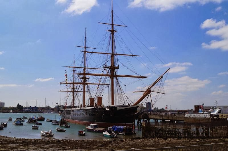 HMS Warrior, barcos en Portsmouth, Portsmouth Historic Dockyard, puerto de Portsmouth, barcos museo, barcos del siglo XIX