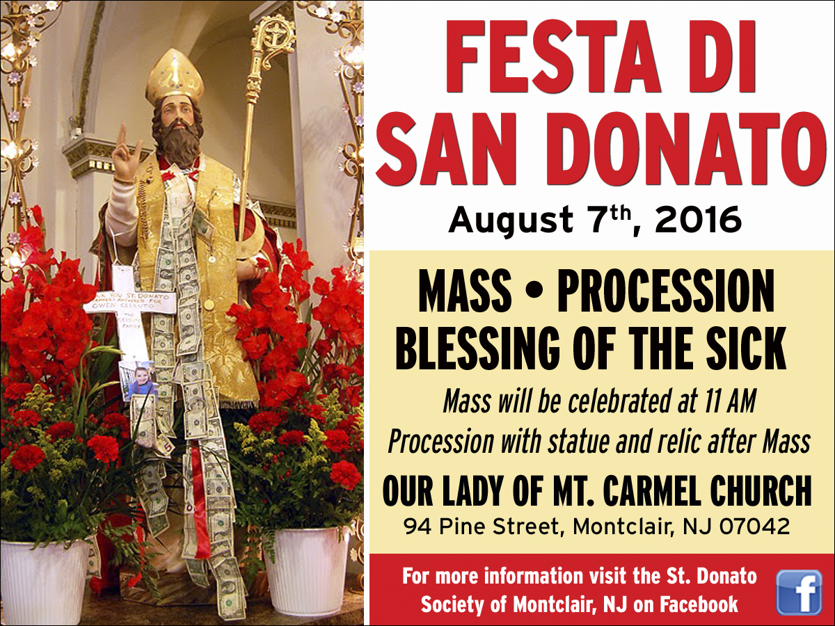 il regno announcing the 6th annual feast of san donato montclair announcing the 6th annual feast of san donato montclair new jersey