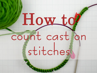A tip of keeping track of cast on stitches