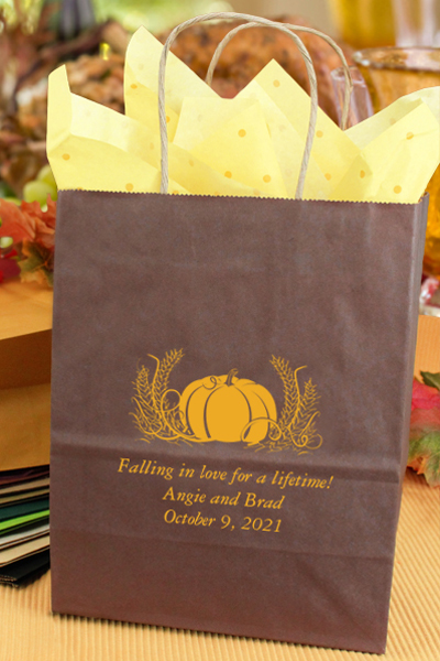 Brown Wedding Guest Fall Gift Bag