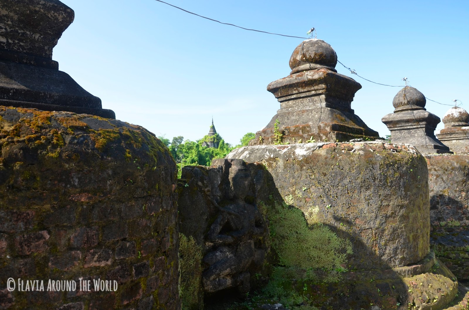 Detalle del templo Shitthaung, Mrauk U, Myanmar