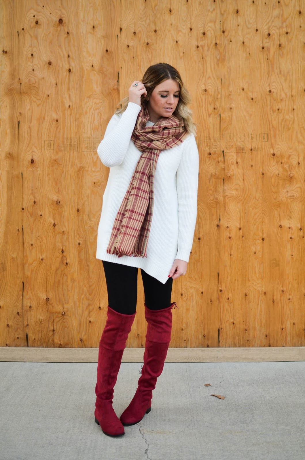 Thigh High Boots, Utah Fashion Blogger, Plaid Scarf, Choies