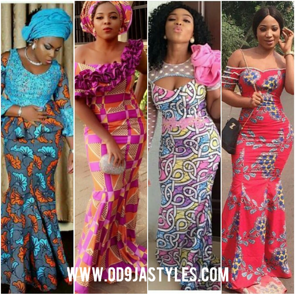 2018 Ankara styles for Big Ladies | Ankara Long Gown Designs