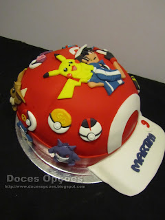 ash hat pokemon cake