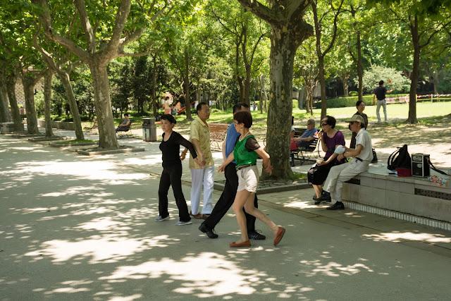 čína, china, šanghaj, shanghai, Fuxing park, French concession, francouzská koncese