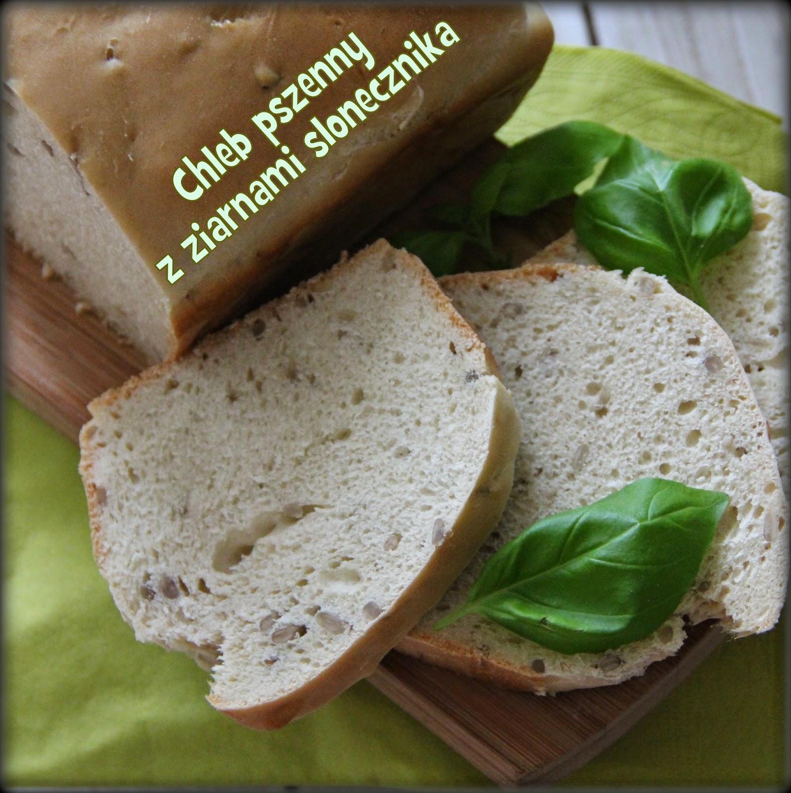 Chleb pszenny z ziarnami słonecznika