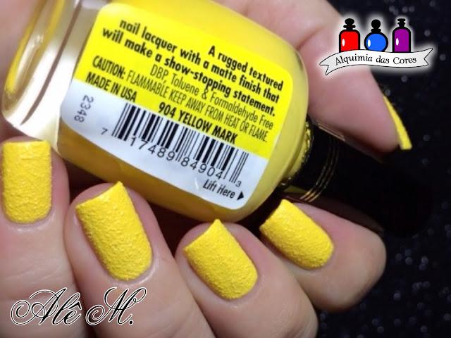Milani Nail Lacquer, Texture, 904 - Yellow Mark, Odisseia Esmaltada, Alê M.