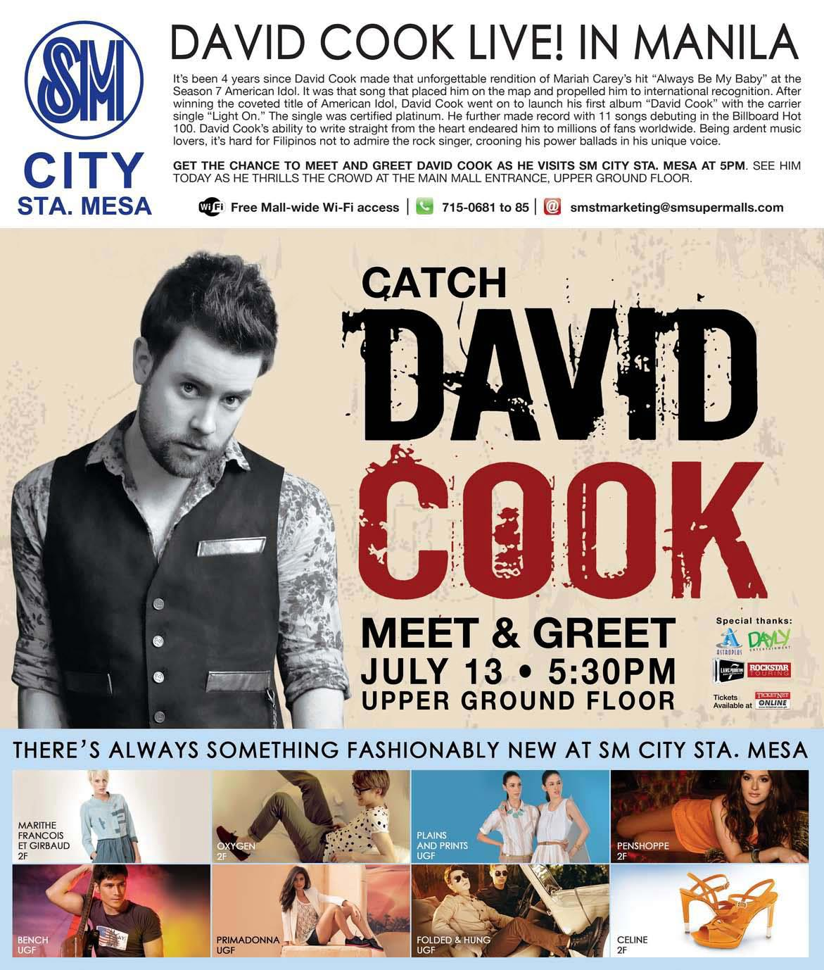 david cook meet and greet