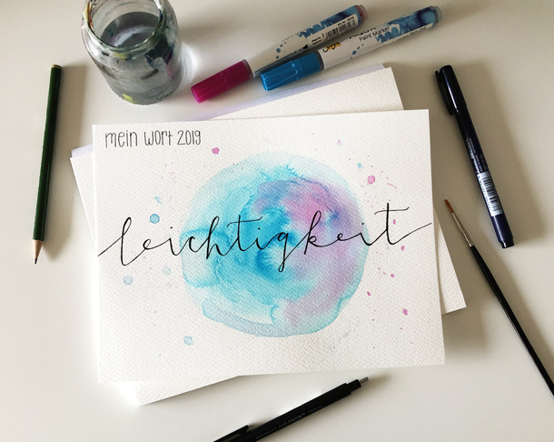 binedoro Blog: Lettering, Handlettering, Aquarell, Leichtigkeit, DIY, The Letter Lovers