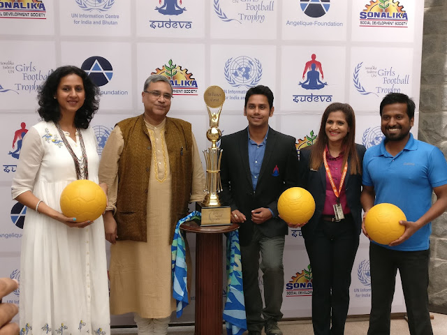 Unveiling of Trophy  by Angelique, UNIC, Sudeva and Sonalika