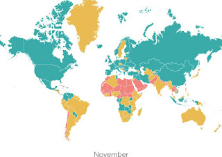 Where to travel in November high season