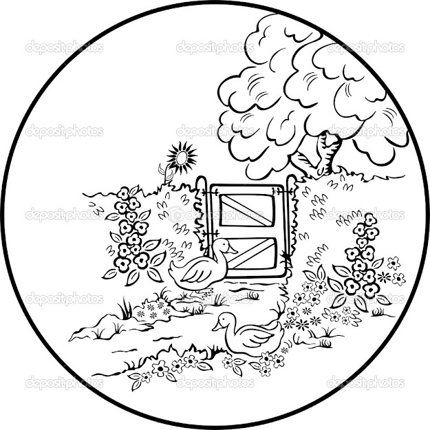 Scenic Coloring Pages  Beautiful Scenery Colouring Pages Page