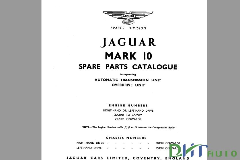 JAGUAR S TYPE MK10 MARK 10 420 420G SERVICE REPAIR MANUAL