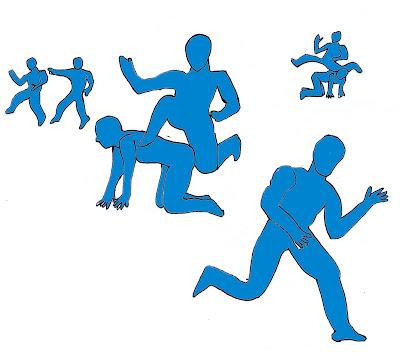 Salto alto atletismo juego lleva con salto