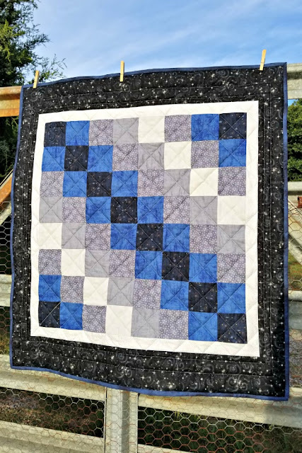 Starry Night crib quilt.