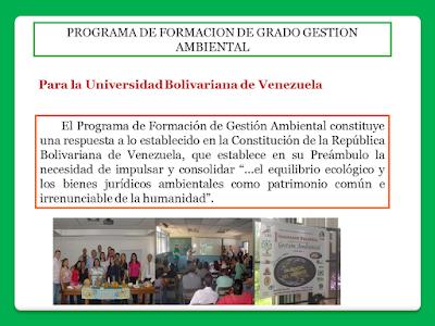 Programa de Formación de Gestión Ambiental