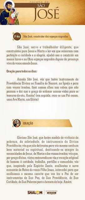 Novena de São José dia 5 - São José e a Divina Providência