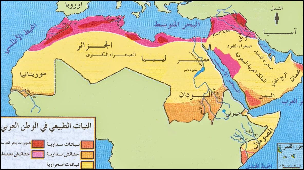 مجموعة خرائط الوطن العربي لخرائط صماء وخرائط بالبيانات