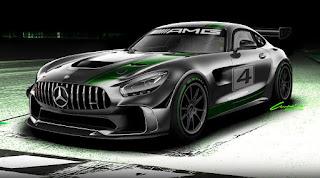 Mercedes-AMG GT4 2017 (Rendering) Front Side