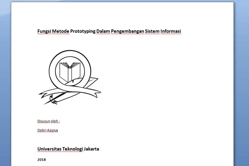 Tahap memberi tanggal pembuatan makalah