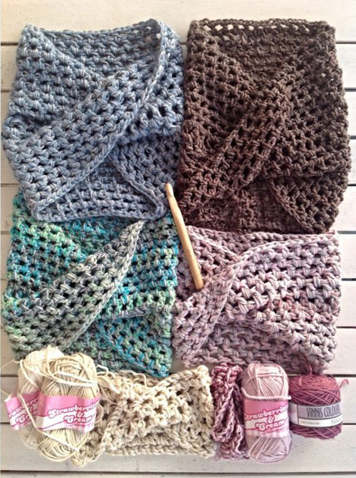 Twisted Crochet Neck Warmer - Free Pattern