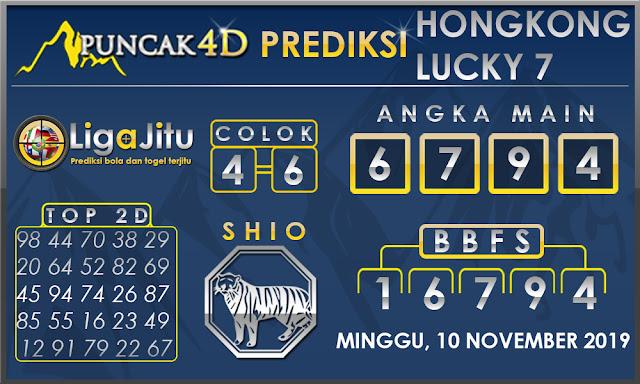PREDIKSI TOGEL HONGKONG LUCKY7 PUNCAK4D 10 NOVEMBER 2019